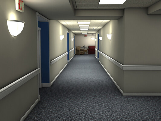 assisted living 3d model