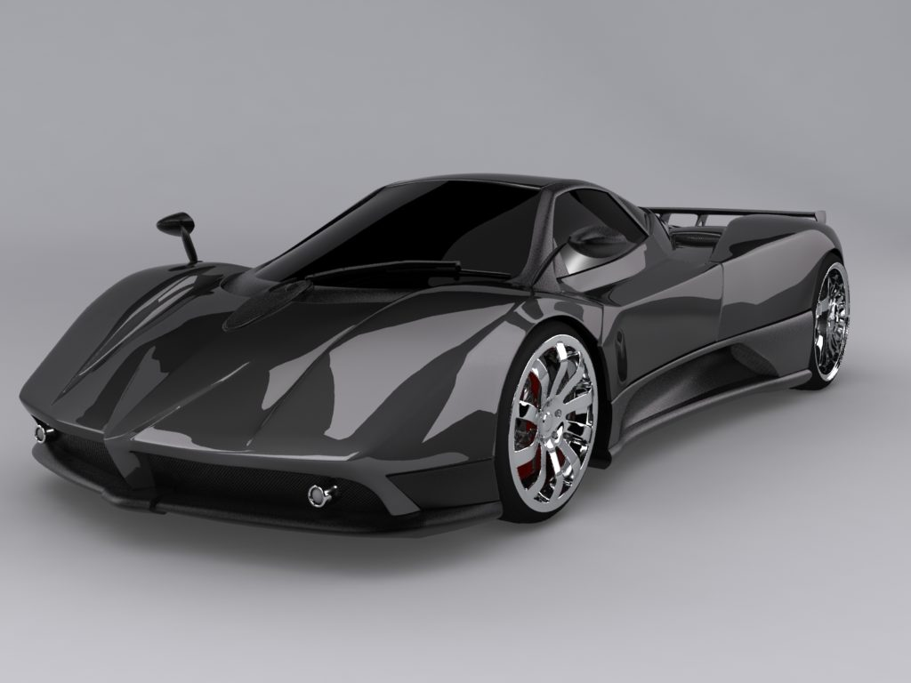 3d model of a zonda car