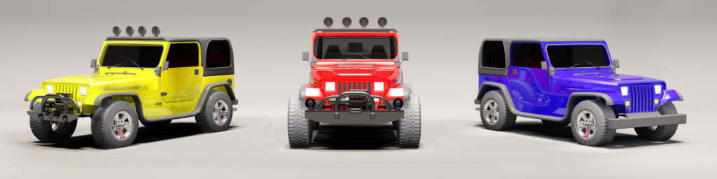 3d model of jeeps