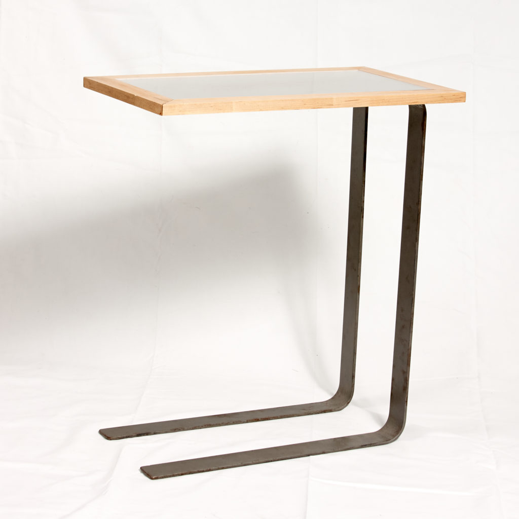 cantilever table from steel and wood