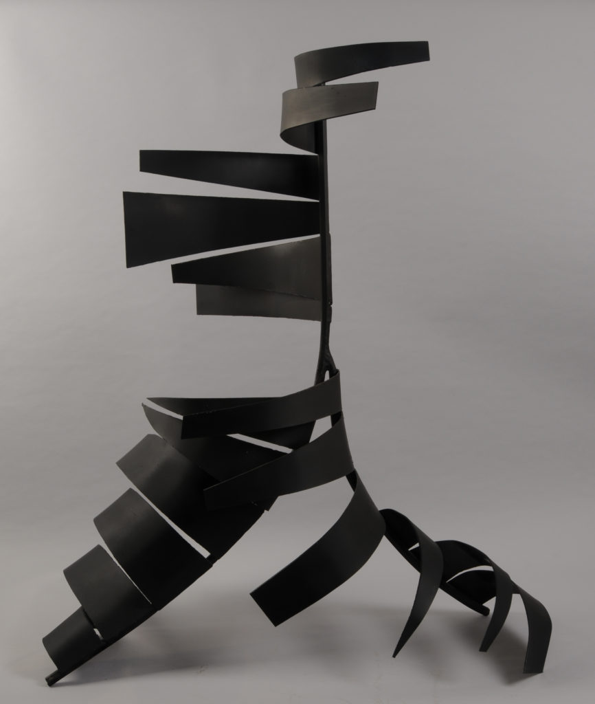 Curved Steel Sculpture of Motion