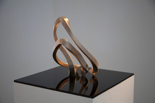 Long exposure human motion sculpture
