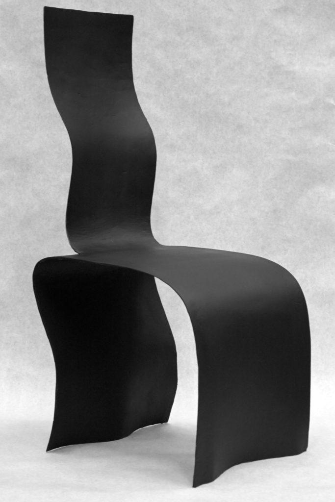 robosculpt fiberglass chair from robot clay mold perspective view